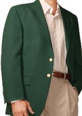 SKU#HL9643 Men's Two Button Blazer Hunter Green (Men + Women) $175