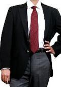 SKU#YM9479 Black Two Button Blazer Wool Blend (Men + Women) $139