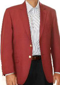SKU#GD6823 Burgundy ~ Maroon ~ Wine Color Two Button Blazer Wool Blend (Men + Women) $175