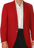 SKU#RD9346 Red Two Button Blazer Wool Blend (Men + Women) $175