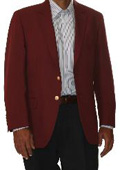 SKU#QM5970 Two Button Blazer Wool Blend Burgundy ~ Maroon ~ Wine Color (Men + Women) $175