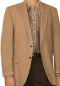SKU#WH9710 Two Button Blazer Wool Blend Khaki ~ Camel ~ Bronz Sport Coat (Men + Women) $175