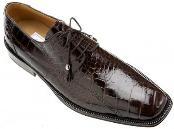 Ferrini All-Over Genuine Alligator Shoes Black Cherry $749