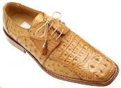 Ferrini Cognac Genuine Crocodile ~ Alligator /Ostrich Shoes $699