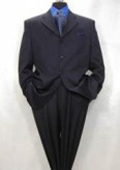 SKU HF89 Mens  4Button Dark Navy Blue Super 120s Wool Italian Suit No Vent 149