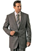 SKU#GE8949 Poly/Rayon Men's Grey Classic Pinstripe ~ Stripe Pattern affordable suit online sale