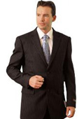 SKU#WM3848 Poly/Rayon Men's Classic affordable suit online sale Black