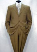 Men's Luxurious High End UMO Collection 3-Button Super 150's Wool Camel ~ Khaki premier quality italian fabric Suit $295