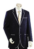 Men's Two Buttons Style comes in Dark Blue $199