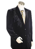Men's Two Buttons Suit Style comes in Black $199