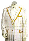 Men's 3 Buttons Suit Style Comes in White Gold Color $175