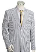 SKU#BS1462 Mens 2pc 100% Cotton Seersucker Suits TaupeoffWhite
