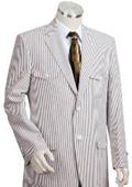 Mens 2pc 100% Cotton Seersucker Suits Grayoffwhite $189