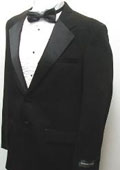 SKU#JOS_Tux101 Buy & Dont Pay Black Tuxedo Rental New Mens Two Button Black Tuxedo Jacket / Blazer / Sport Coat No Pants $65