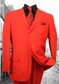 SKU#FL3937 Super 120'S G-Red Solid Color Suit $199
