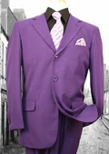 SKU#KZ10290 Super 120'S G-Purple Solid Color Suit $139