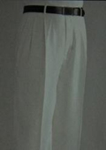 SKU#UZ1086 Ivory Wide Leg Dress Pants Pleated baggy dress trousers