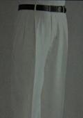 SKU#UZ1086 Ivory Wide Leg Dress Pants Pleated baggy dress trousers