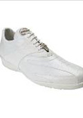 SKU#WZ8997 Belvedere Men's Bene Sneaker in White