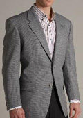 SKU#KX34890 Single Breasted Grey-Ish Blue Two Buttoned Super 100 Wool Sports Jacket $179