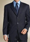 SKU ZT37 795 Zlk4 I Deal Navy Blue Suit features classic three button 100 sophisticated Wool