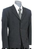 SKU CLK23 High Quality Nicest Charcoal Gray 4 Buttons Mens Worsted Light Weight Wool 199