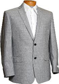 SKU#HD2086 Mens Black & White Tweed 2 Button Designer Sports Jacket $149