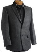 SKU#PN9741 Mens Charcoal Designer Classic Sports Jacket $129