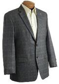 SKU#YU1567 Blazer Coat Mens Designer Classic Window Pane Wool Sports Jacket Brown $149