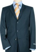 SKU MNT34 High Quality Pick Stitch Jacket  Double Back Vent Three Button Navy Blue Super 140s