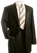 Mens Suit Brown Pinstripe Designer affordable suit online sale $139