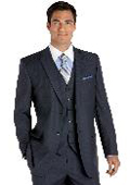 Blue Stripe Vested Suit