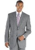 Gray Peak Lapel Suit