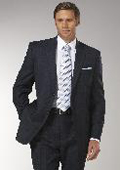 Men's Navy Glen Plaid affordable suit online sale $175