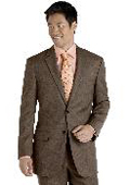 Taupe Plaid Suit $139