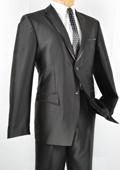 SKU#NX8876 Mens Slim Fit Trimmed Two Tone Blazer/affordable suit online sale/Tuxedo - Black