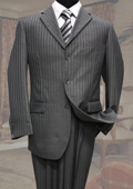 Charcoal Classic 2PC 3 Button Tone On Tone Stripe ~ Pinstripe Mens cheap discounted Suit $99