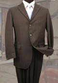 Brown Classic 2PC 3 Button Tone On Tone Stripe ~ Pinstripe Mens cheap discounted Suit $99