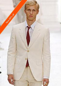 SKU#VD3923 Men's Suit 2-Button Ivory Off White Jacket and Pants