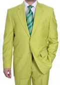 Mens Two Button Suit - Bright Neon Green~Kiwi~Celery $139