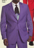 SKU#FN9902 Mens Purple Two Button Suit $139