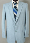 Mens Two Button Suit - Light Blue ~ Sky Blue (Baby Blue) $175