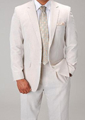 Mens Two Button Vented Seersucker Suit (Jacket + Pants) Mens and Boys Size available $114