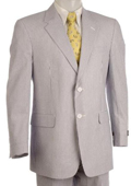 Button Vented Seersucker Suit