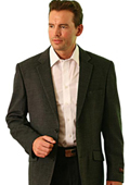 SKU#BR9022 Wool Two Button Blazer Charcoal $139