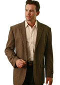 SKU#SM1838 Wool Two Button Blazer Taupe $139