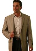 SKU#BR9022 Wool Two Button Blazer Tan ~ Beige $139