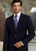 SKU#VR9372 Classic Navy Blue Sport Coat 2 Button Hand Made One Of A Kind With Gold Button $89