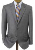 SKU# 904E Men's Medium Gray 2 Button Double Vented Jacket + Flat Front Pants