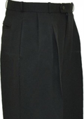 Solid Black Wide Leg Slacks Pleated baggy dress trousers $59